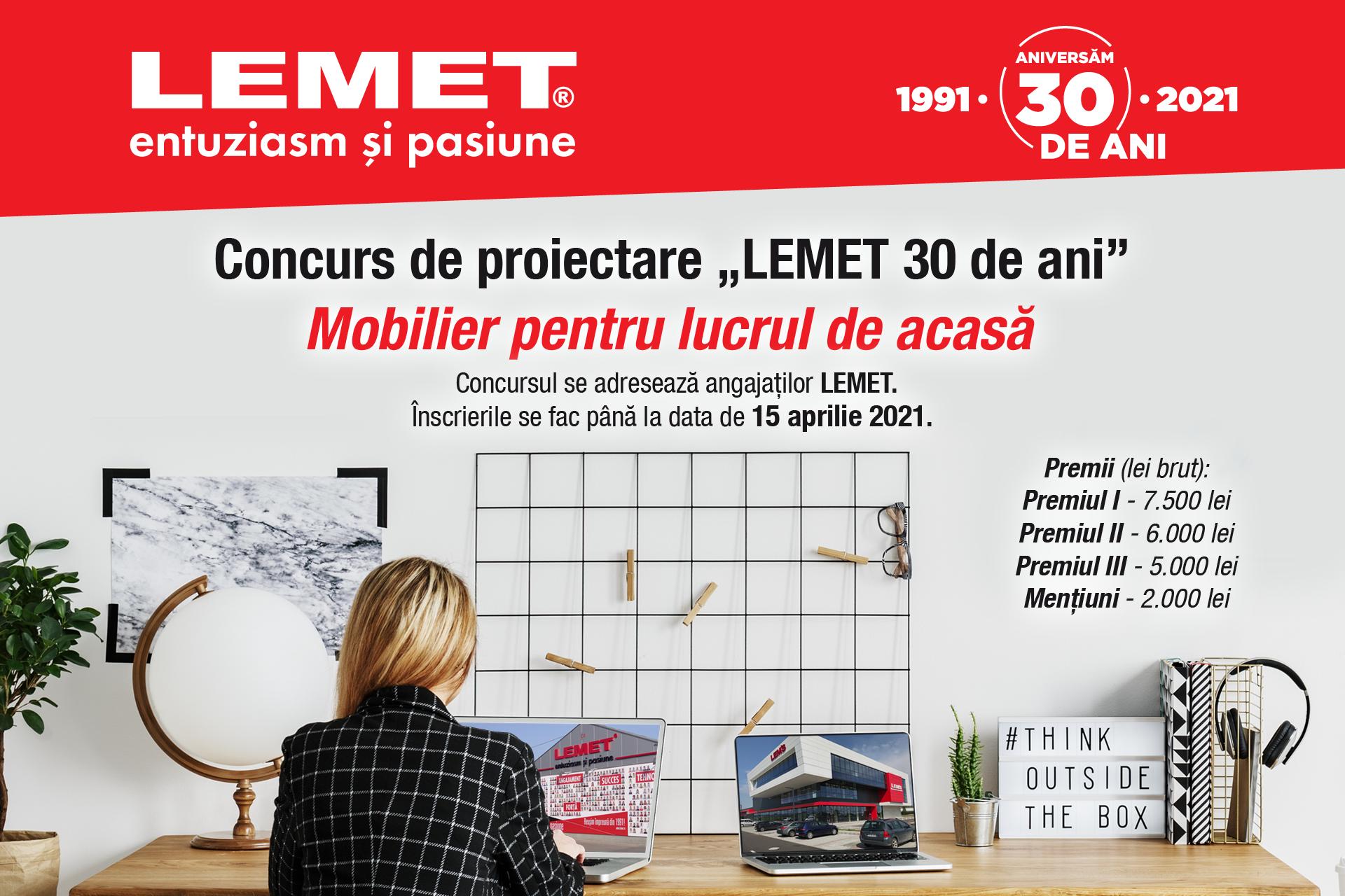 """Concurs de proiectare """"LEMET 30 de ani"""""""